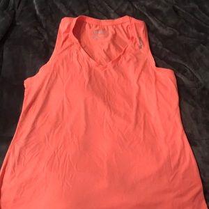 Orange workout tank